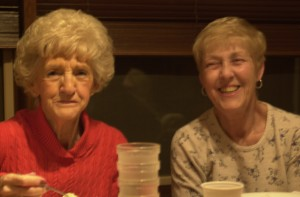 My mom, left, with my sister Diane